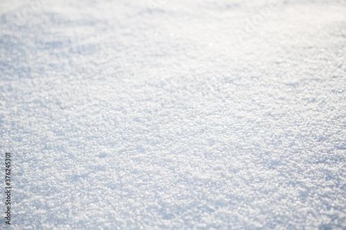 Obraz na plátně Close up of fresh snow great as a background