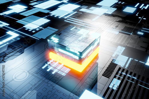 Photographie Electronic circuit Background