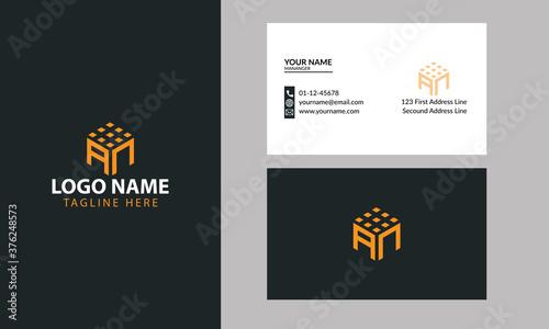 Fotografie, Obraz Business corporate letter AN logo design vector