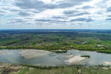 Aerial View At Shallow Vistula...