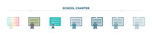 School Charter Icon Designed I...