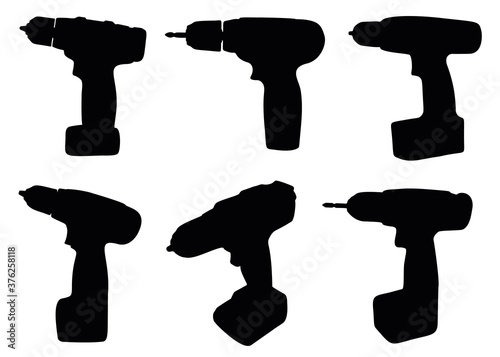 Drill screwdriver for repair work. Canvas