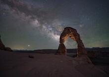 Milky Way Galaxy Rising At Del...