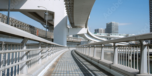 Rainbow Bridge Promenade in Tokyo, Japan レインボーブリッジプロムナード(遊歩道) 東京 Canvas Print
