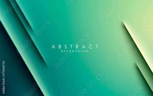 Billede på lærred Green gradient modern diagonal strip background