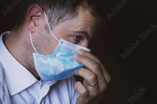 pandemia. Billede på lærred