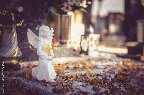 beautiful cute innocent white angel Fototapet