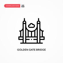 Golden Gate Bridge Vector Icon...