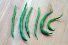 Six Freshly Picked Green Beans