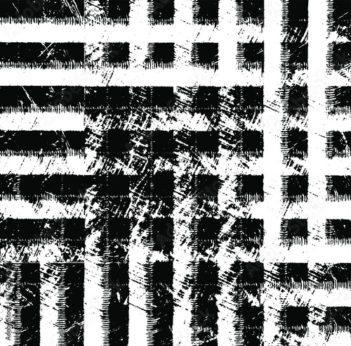 Rough, irregular texture composed of monochrome geometric elements Canvas Print