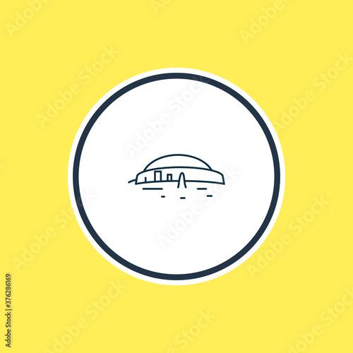 Fototapeta Vector illustration of newgrange icon line