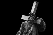 Jesus Christ With Cross.  Anci...