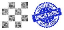 Textured Gambling Warning Roun...