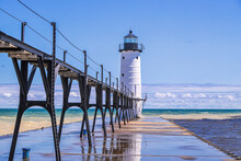 North Pierhead Lighthouse, Manistee, Michigan