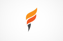 Torch Logo Inspiration, Flat D...