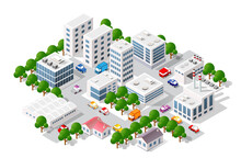 Isometric View Of The City. Co...