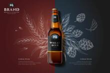 Engraving Premium Beer Ad