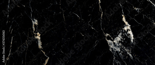 Fotografie, Obraz Black Marble Texture, High Gloss Marble Background Used For Interior abstract Home Decoration And Ceramic Granite Tiles Surface