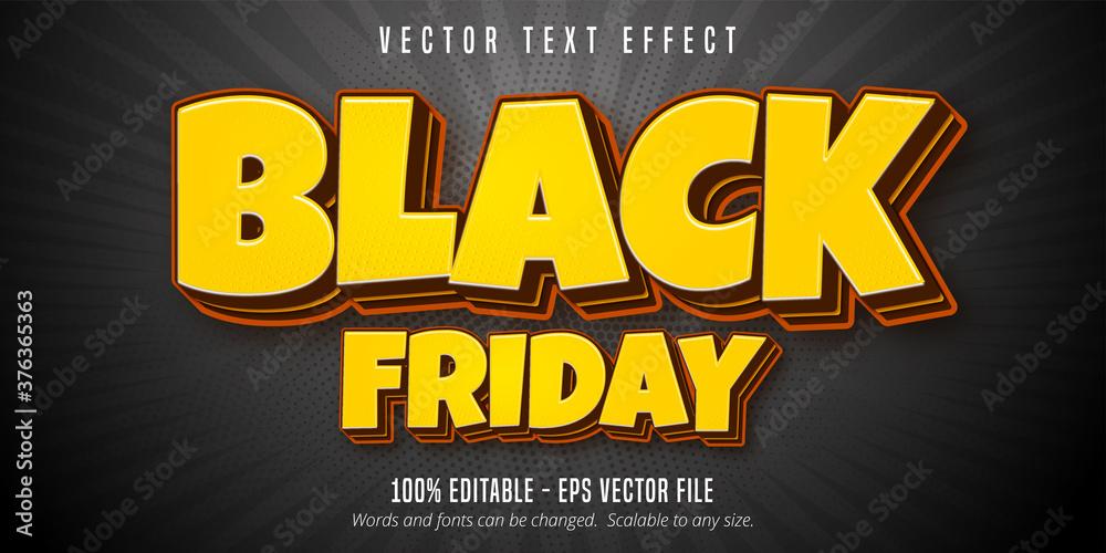 Fototapeta Black friday text, editable text effect