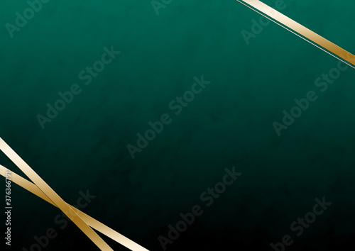 Photo 金色のリボンと大理石風の模様 フレーム素材(グリーン)
