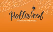 Halloween Banner. Holiday Hall...