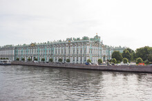 View Of The Winter Palace And Palace Square In St. Petersburg. Hermitage, Russia