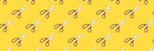 Banner With Scissors Pattern O...
