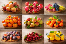 Food Collage Of Fresh Fruits