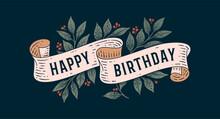 Happy Birthday. Retro Greeting...