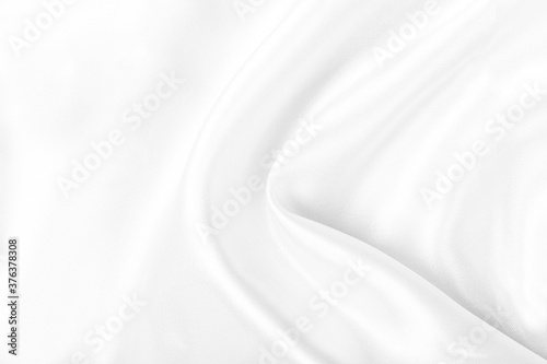 Fotografie, Tablou White silk fabric texture background, Wavy satin