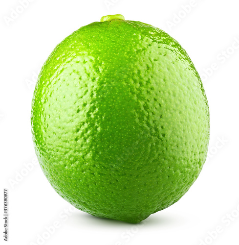Fototapeta lime isolated on white background