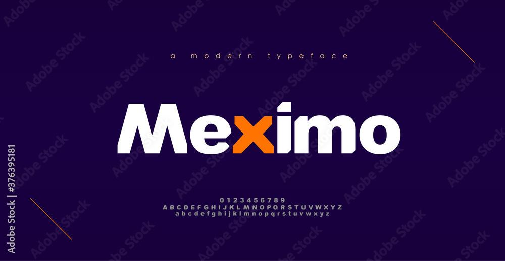 Fototapeta Abstract sport modern alphabet fonts. Typography bold typeface design for sport, technology, fashion, digital, future creative logo font. vector illustration