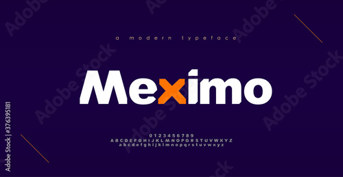 Fotografie, Obraz Abstract sport modern alphabet fonts