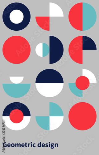 Trendy bauhaus pattern Fototapeta