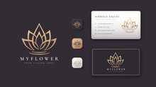 Lotus Flower Logo And Business Card Design