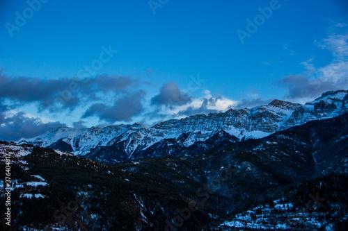 Winter Serra Del Cadi in La Cerdanya, Pyrenees, Spain Canvas Print