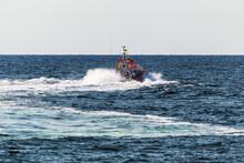A Rescue Boat In The Sea Monit...