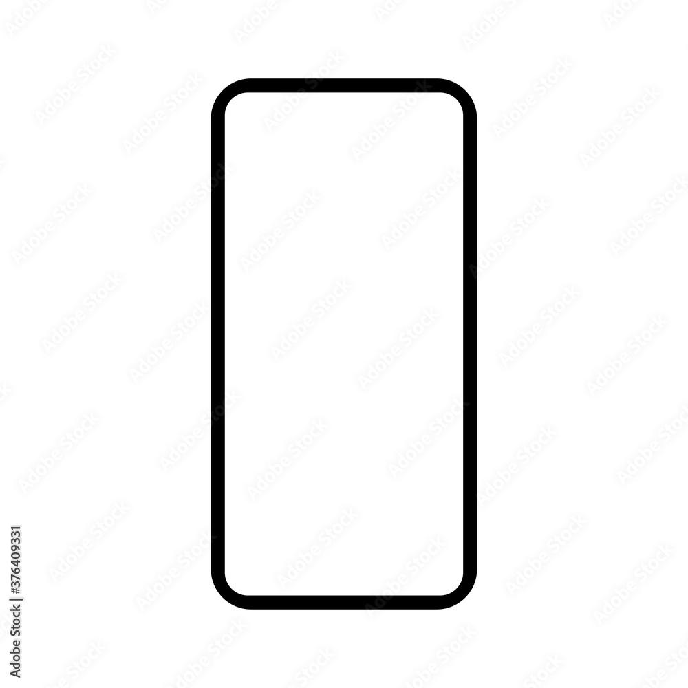 Fototapeta mobile phone mockup vector illustration. cellphone, smartphone isolated on white background. simple modern design.