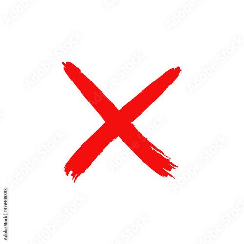 red cross x vector icon Tapéta, Fotótapéta