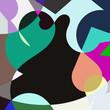 form farbe kontrast quadrat hintergrund
