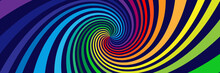 Background With Rainbow Colored Spirals