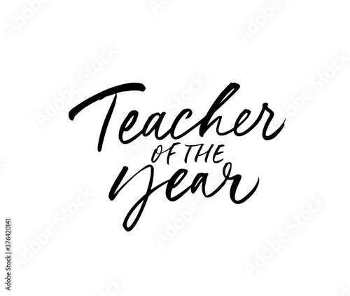 Teacher of the year greeting card Poster Mural XXL