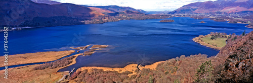 Fotografie, Tablou Panoramic view over Derwent Water to Keswick