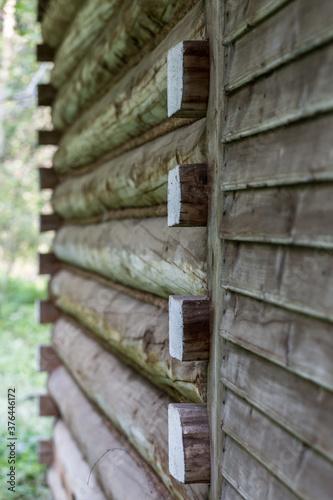 Obraz dom drewniany - fototapety do salonu