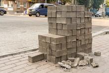Old Paving Stone Tiles Folded ...