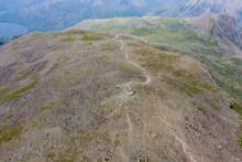 Aerial View Of Walkers On Top ...