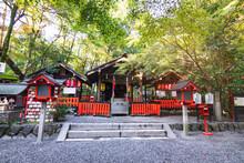 Nonomiya-Jinja A Small Shrine Located Near The Famous Temple Tenryū-ji, Nonomiya Shrine Is Surrounded On Arashiyama's Beautiful Bamboo Forest.