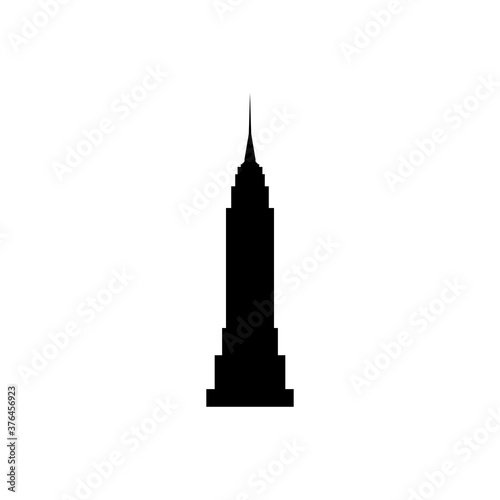 Photo empire state building new york black sign icon