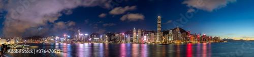 Obraz na plátně Hong Kong Cityscape at Night
