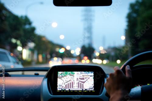 電気自動車の運転席 Canvas